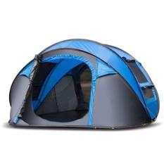 Anti-Air 3-4 Orang Otomatis Perhatian Hingga Tenda Keluarga Besar Kemah Daki Gunung Tent-Internasional