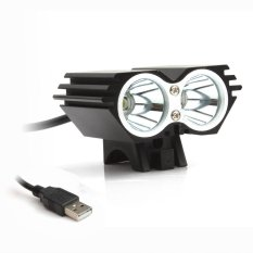 Diskon Besartahan Air 5000 Lm X 2 Cree Xm L T6 Dipimpin Sepeda Usb Head Lamp