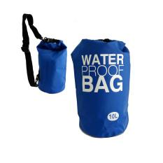 Jual Waterproof Bag Dry Bag Kapasitas 10 Liter Besar Untuk Tempat Gadget Saat Olahraga Air Biru Ori