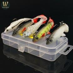 Spesifikasi Weargen 5 Pcs Box 3D Eye Lead Fishing Lures Curly Tail Soft Minnow Fishing Lure Treble Hook Umpan Umpan Umpan Buatan 9 3G 10 Cm 14G 8 Cm Intl Paling Bagus