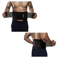 Weight Lifting Sabuk untuk Pria dan Wanita Tahan Lama Nyaman & Dapat Disesuaikan dengan Tali Menstabilkan Kembali Penjepit Dukungan untuk Angkat Besi dan belakang Rasa Sakit (XXL) -Internasional
