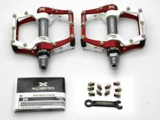 Wellgo Merah/Putih XPEDO Face Off XMX 18AC MTB Road Bike Pedal CNC Ringan-Internasional
