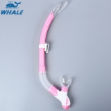 Spesifikasi Whale Menyelam Renang Gel Penuh Kering Snorkel Pernapasan Tabung Pink Paling Bagus