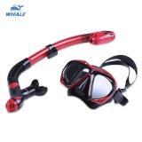 Diskon Whale Profesional Menyelam Latihan Snorkelling Silikon Masker Snorkel Kacamata Set Merah Dengan Hitam Intl Branded
