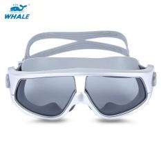 Whale Unisex Anti Kabut Uv Shield Melindungi Kacamata Goggles Swimming Glasses Perak Intl Original