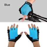 Spesifikasi Wheel Up Half Finger Cycling Bike Mittens Breathable Mountain Bike Breathable Gloves Blue S Intl