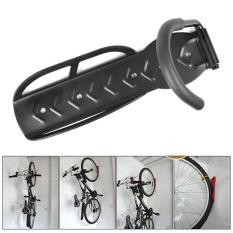 Whyus-Sepeda Lipat Rak Penyimpanan Dinding Mount Gantungan Berdiri Vertikal Bantalan Beban 30Kg (Movable