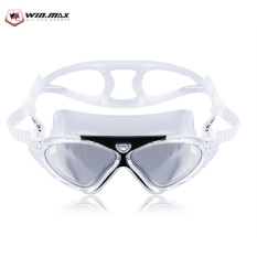WIN MAX Adult Adjustable Professional Anti Fog UV Protection Silicone Swimming Eyeglasses Goggles with Box (Black)