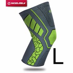 Jual Winmax Knee Compression Sleeve Support Brace For Joint Pain And Arthritis Relief Injury Recovery Single Wrap Green Size L Intl Branded Murah