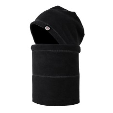 Winter Outdoor Seamless Windproof Warm Riding Fleece Neck Gaiter Head Cap Hat Mask for Men Women Color:Black Size:free size