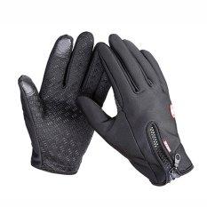 Winter&Autumn Windproof Waterproof Touch Screen Sports Glove Bikes Motorcycle Black M - intl