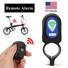 Wireless Remote Control Anti-theft MTB Cycling Security Audible Sound Lock Guard Bike Bicycle Alarm Siren Shock Vibration Sensor - intl