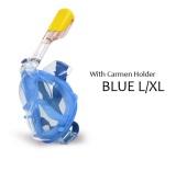 Diskon Wm Wajah Penuh Anti Kabut Menyelam Masker Snorkeling Set Dengan Penyumbat Telinga Dan Kamera Holder L Xl Biru Intl Win Max