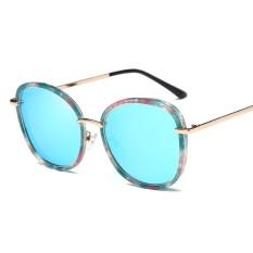 Wanita UV400 Polarized Fashion Ringan Clean Vision Sunglasses Sports Riding Glasses Eyewear Lensa Warna: Seperti Pertunjukan Spesifikasi: Blue Floral Frame/Blue Lens C5-Intl