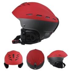 Harga Wanita Pria Dewasa Outdoor Sport Kokoh Ski Papan Seluncur Sepeda Skate Helmet Kokoh Abs Shell Helm Ukuran Merah L 58 61 Cm Yang Murah