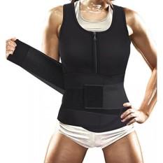 Women Sauna Suit Waist Trainer Vest for Sport Workout Weight Loss Corset With Belt Neoprene Shirt Body Shaper Tank Top - intl