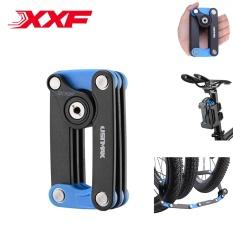 XXF Bersepeda Portabel Lipat Mengunci MTB Sepeda Anti-pencurian Rantai Mengunci Lipat Persegi Mengunci 4 Warna-Internasional