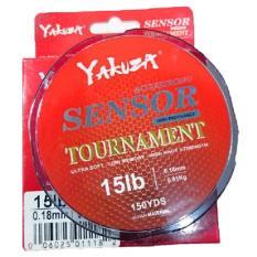 Yakuza Sensor Tournament 15lb Senar Pancing Kuat dan Langsung Tenggelam Abu-abu