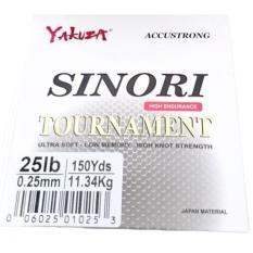 Yakuza Sinori Tournament 25lb Senar Pancing Kuat dan Langsung Tenggelam Hijau