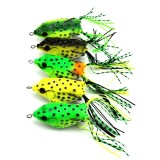 Ybc 5 Pcs Soft Plastic Fishing Lures Frog Lure Dengan Hook Top Air 6 5 Cm 13G Buatan Fish Tackle Intl Oem Murah Di Tiongkok