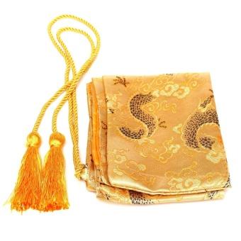 "Harga preferensial Kuning 53 ""Orient Budaya Kaisar Jepang Dragon Samurai Tas Baru-Internasional terbaik"