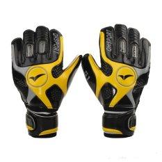 Yellow Size 8 Mens Football Goalkeeping Soccer Goalkeeper Sports Goalie Gloves - intl