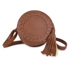Yesefus Kecil Kulit Dompet Cross Body dan Tas dengan Tali Bahu untuk Wanita Abu-abu-Intl