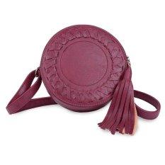 Yjjzb Kecil Tas Kulit Selempang dan Tas dengan Tali Bahu untuk Wanita Merah-Internasional
