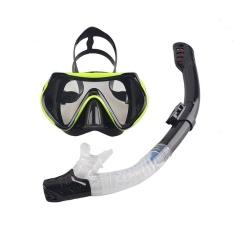 YJS Baru Profesional Menyelam Masker Snorkel Anti-kabut GogglesGlassesset Silicone Swimming Kolam Pemancingan Peralatan 6 Warna #6- INTL