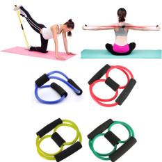Yoga Resistensi Band Tabung Peregangan Otot Tubuh Latihan Kebugaran RJ45 3