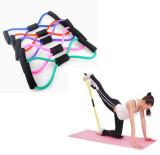 Promo Sabuk Tali Yoga Persediaan 8 Karakter Tarik Tali Reli Dada Menggunakan Mesin Expander Pilates Membentuk Tubuh Peralatan Kebugaran Alat Internasional Oem