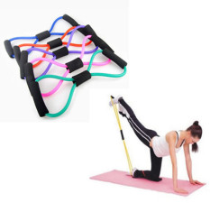 Harga Sabuk Tali Yoga Persediaan 8 Karakter Tarik Tali Reli Dada Menggunakan Mesin Expander Pilates Membentuk Tubuh Peralatan Kebugaran Alat Internasional Terbaru