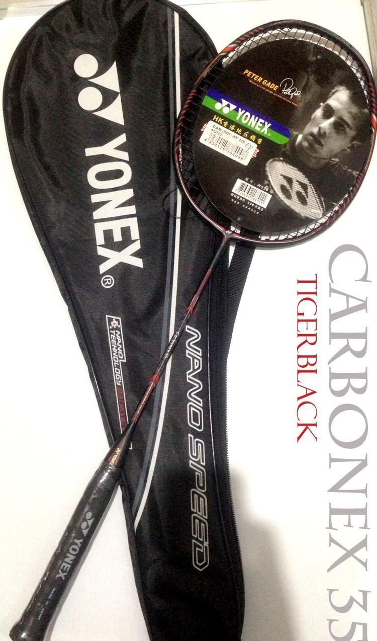 Full Carbon Yonex Raket Carbonex 35 Series Peter Gade Black Series