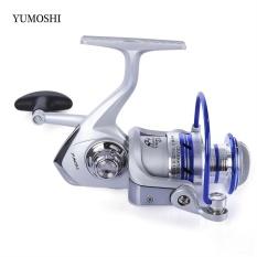 YUMOSHI 12BB Setengah Metal Alat Pemintal Pancingan dengan Pegangan Yang Dapat Ditukar AL2000 (Warna Campuran)-Intl