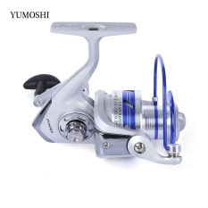 YUMOSHI 12BB Setengah Metal Alat Pemintal Pancingan dengan Pegangan Yang Dapat Ditukar AL6000 (Warna Campuran)-Intl