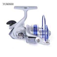 Yumoshi 12BB Setengah Logam Memancing Rol Gulung dengan Gagang Yang Bisa Ditukar AL7000 (Colormix)-Intl