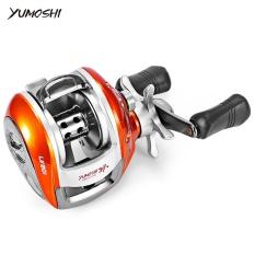 YUMOSHI 6.3: 1 12 + 1 Ball Bearing High Speed Kiri/Kanan Umpan Tangan Baitcasting Reel (LV200 KANAN) -Intl
