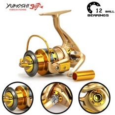 Harga Yumoshi Carp 12Bb Feeder Metal Body Big Spinning Fishing Reels Shimano Hf5000 Intl Tiongkok