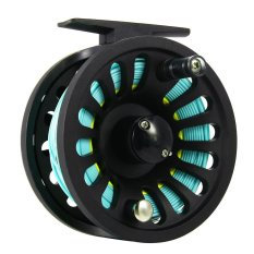 Yun Miao 1 + 1B Bearing Fly Fishing Reel Fishing Line + Extension Line + Taper Leader + Tippet Set -Intl