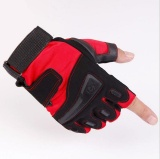 Beli Zh Men S Color Semi Finger Gloves Outdoor Combat Spring And Summer Fitness Mountaineering Anti Skid Riding Dew Finger Tactical Gloves Red Intl Online Tiongkok
