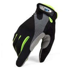 ZH Cocok untuk Pria dan Wanita untuk Digunakan Kawat Es Kebugaran Pelatihan Taktik Anti-skid Gerakan Anti-skid Gerakan Semua Jari Sarung Tangan Hijau-Intl