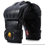 Diskon Zooboo 1 Pair Pu Leather Half Finger Mma Boxing Fighting Gloves Suitable For Sanda Sandbag Intl Zooboo Tiongkok