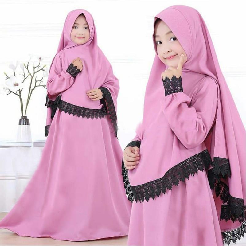 Syari Anak / Maxy / Baju Muslim / Fashion Muslim / Setelan Muslim / Syari Putri - Kubus - BEST SELL