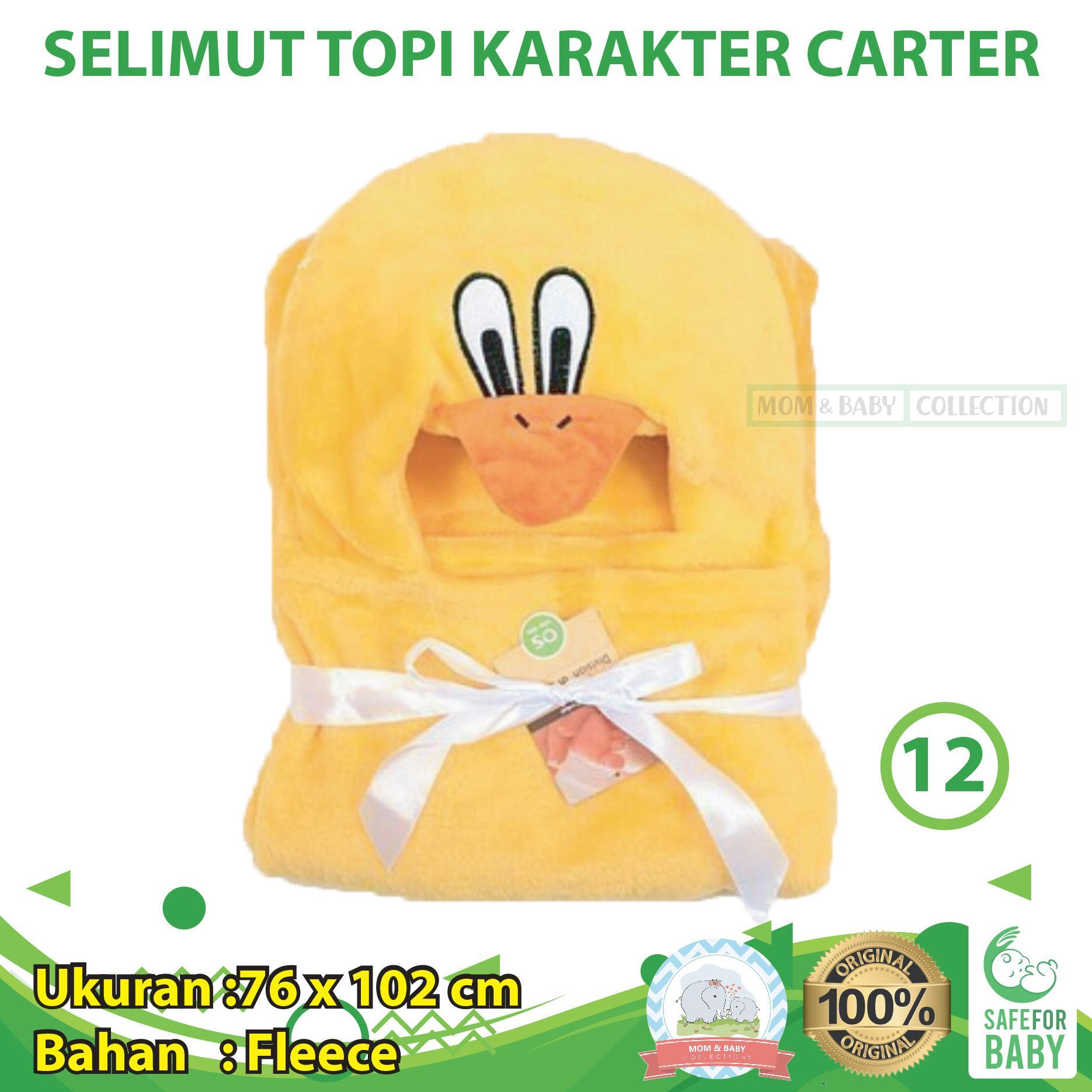 Selimut Topi Karakter Carter / Selimut Topi Bayi