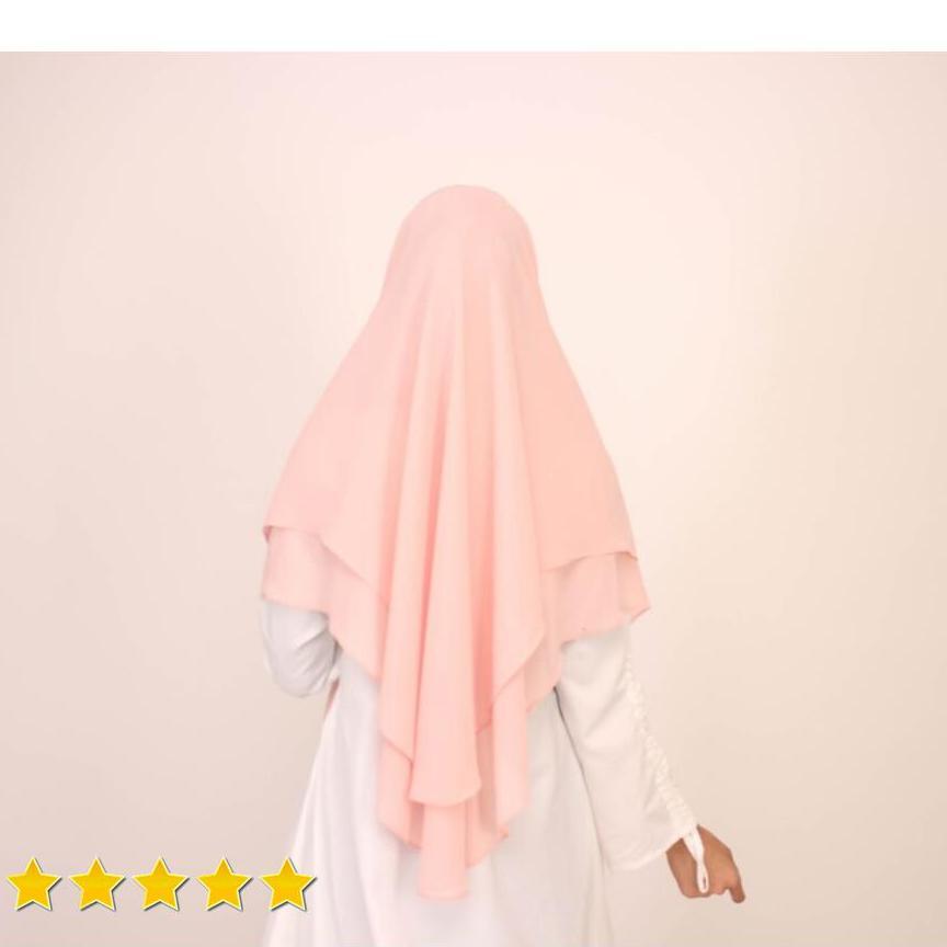 Hijab Mengerti Kamu Khimar Pet Jilbab Instan Warna Peach Riri Khimar