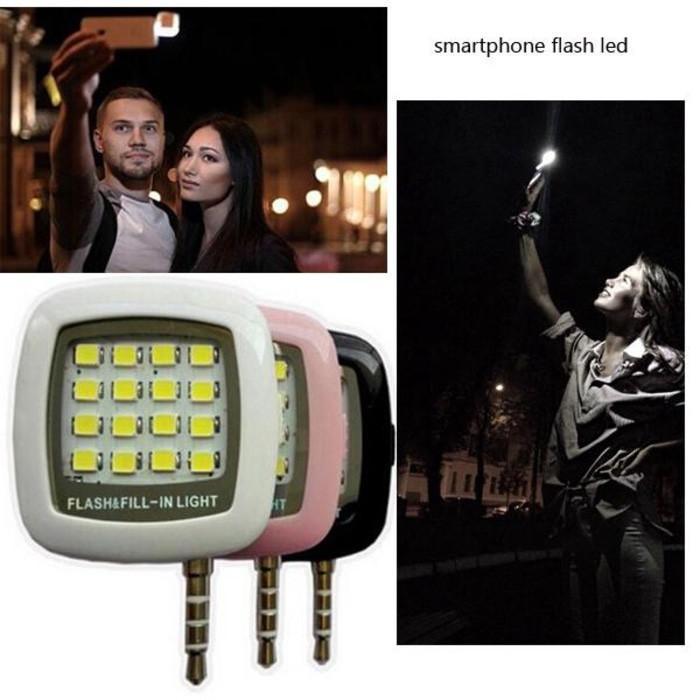 LAMPU LED SELFIE FLASH UNTUK ANDROID DAN IOS SEMUA HP  LAMPU FLASH HP