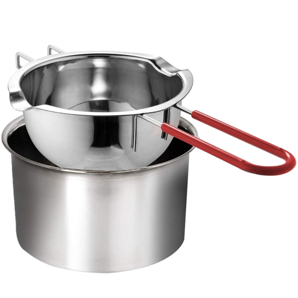Mua Stainless Steel Double Boiler, Heat-Resistant Handle for Chocolate, Butter, Cheese, Caramel and Candy-Steel Melting Pot