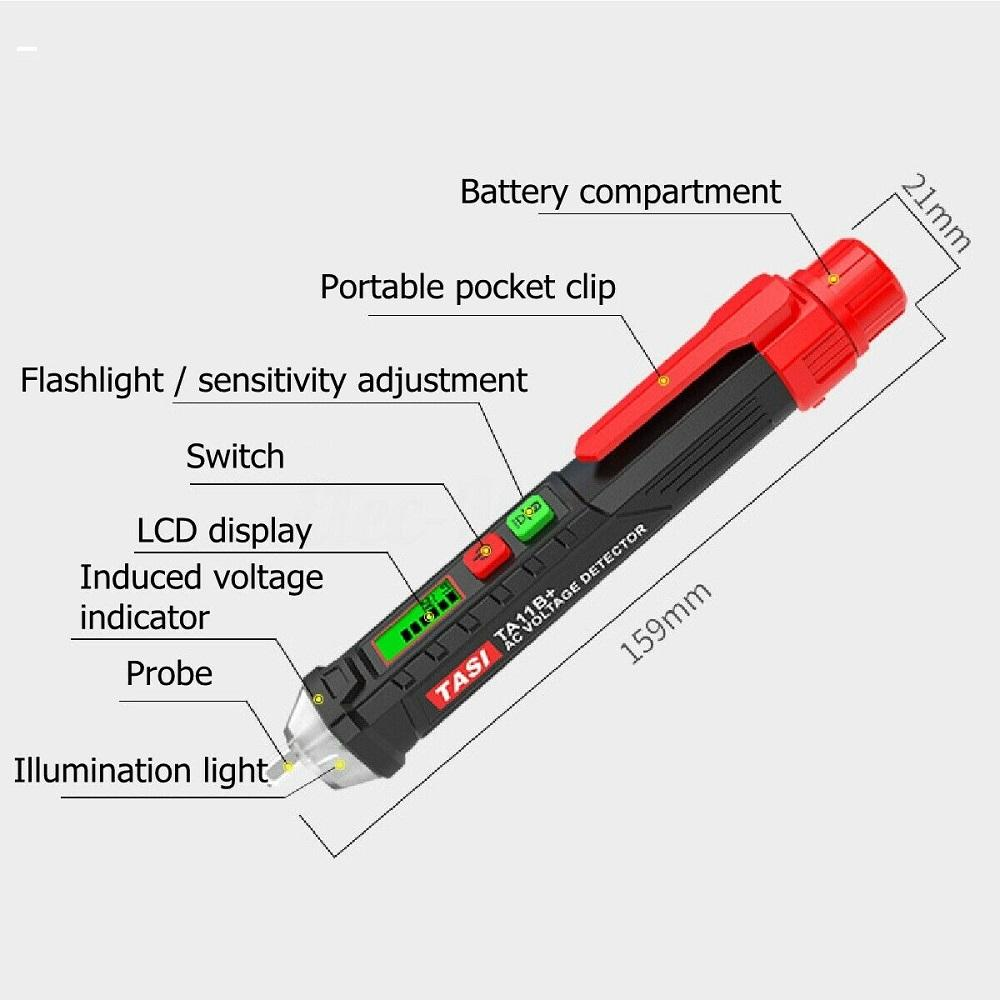 AC DC Inductance Break Point Detector Pen Auto-Ranging Digital Multimeter Inductive Electric Tester Home Tool with LED Display Digital Voltage Tester 2#