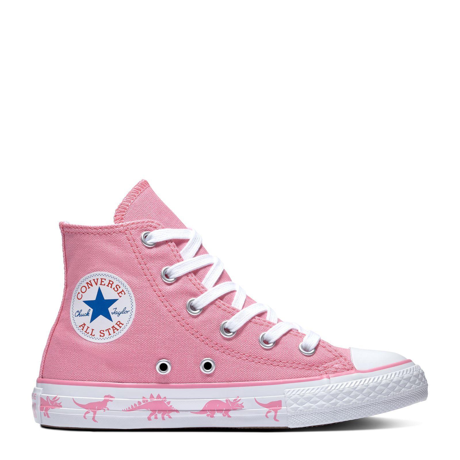 CONVERSE CHUCK TAYLOR ALL STAR - HI - PINK WHITE WHITE - CON663712C 8447383dd3