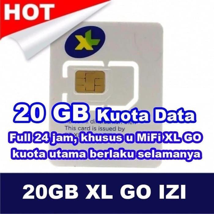Kartu Perdana Internet XL Go 4G Gratis Kuota 90Gb/3bln Tanpa Isi Pulsa